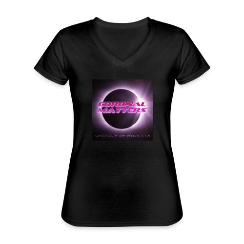 Coronal Matters Waiting for Rosetta levyn kansi - Klassinen naisten t-paita v-pääntiellä