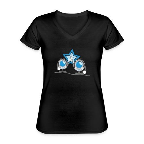 high5 clopter - Klassisches Frauen-T-Shirt mit V-Ausschnitt