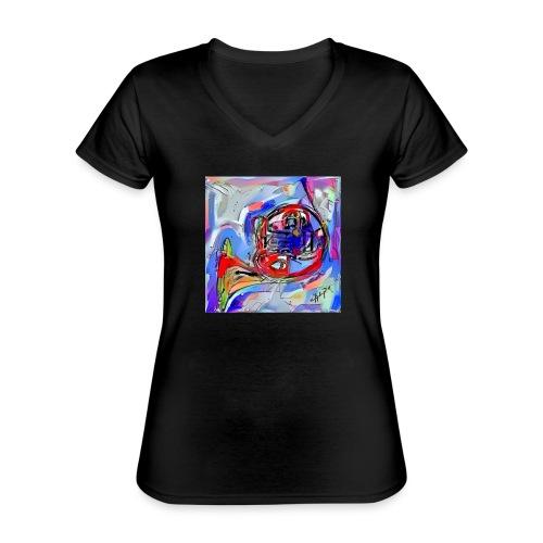 cornoarte1 - Klassiek vrouwen T-shirt met V-hals