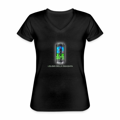Nafta Energy Drink - Maglietta da donna classica con scollo a V