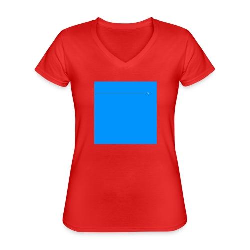 sklyline blue version - T-shirt classique col V Femme