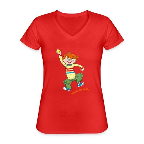 Villads fra Valby - Klassisk dame T-shirt med V-udskæring