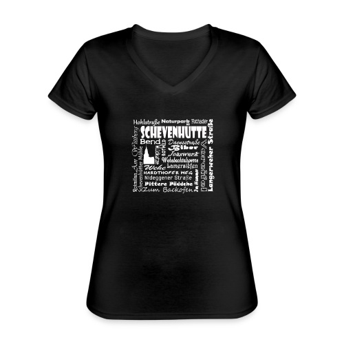 Alles in Schevenhütte - Klassisches Frauen-T-Shirt mit V-Ausschnitt