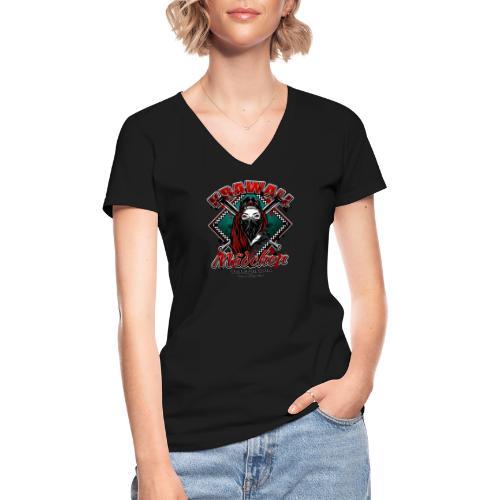 Krawallmädchen - Klassisches Frauen-T-Shirt mit V-Ausschnitt