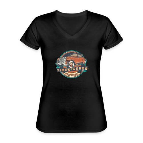 TIREKICKERS - V8 -Hotrod - Klassisches Frauen-T-Shirt mit V-Ausschnitt
