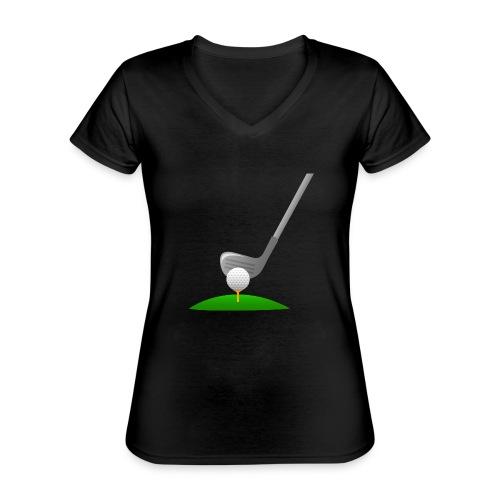 Golf Ball PNG - Camiseta clásica con cuello de pico para mujer