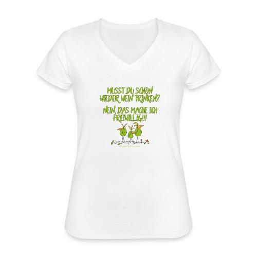 designbykiss (13) - Klassisches Frauen-T-Shirt mit V-Ausschnitt