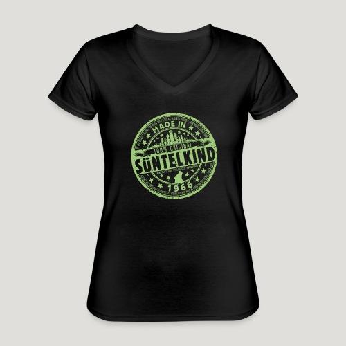 SÜNTELKIND 1966 - Das Süntel Shirt mit Süntelturm - Klassisches Frauen-T-Shirt mit V-Ausschnitt