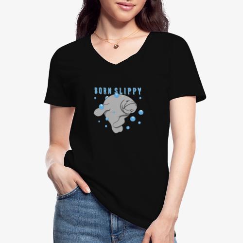 Born Slippy - Klassisk T-shirt med V-ringning dam