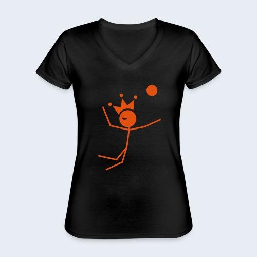 Volleybalkoning - Klassiek vrouwen T-shirt met V-hals