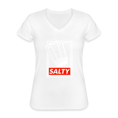 Salty white - Classic Women's V-Neck T-Shirt