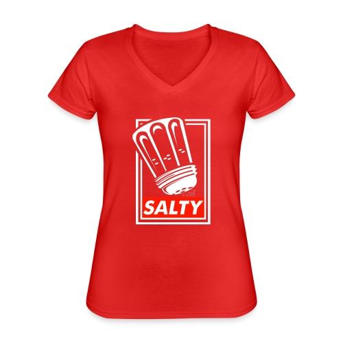 Salty white - Classic Women's V-Neck T-Shirt
