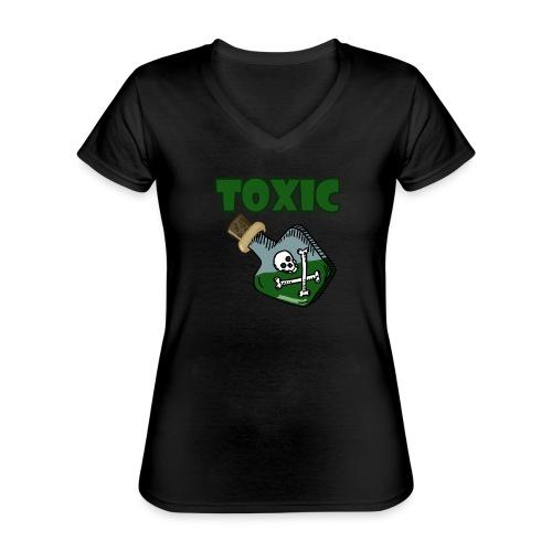 Toxic Gaming - Klassisches Frauen-T-Shirt mit V-Ausschnitt
