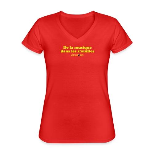Collection De la musique dans les z'ouilles - T-shirt classique col V Femme
