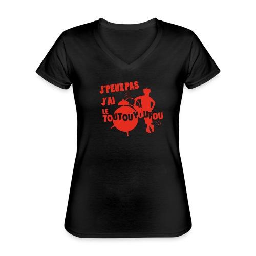 JPEUXPAS ROUGE - T-shirt classique col V Femme