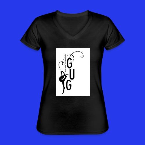 GUG logo - Klassisches Frauen-T-Shirt mit V-Ausschnitt