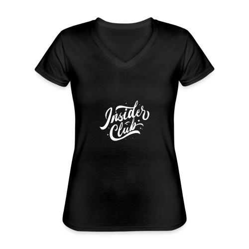 Insider Club - Klassisches Frauen-T-Shirt mit V-Ausschnitt