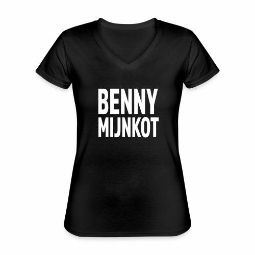 Benny Mijn kot - Klassiek vrouwen T-shirt met V-hals