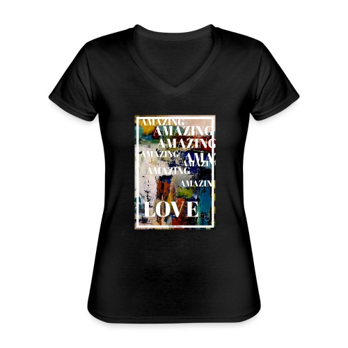 Amazing Love - Klassisk T-shirt med V-ringning dam