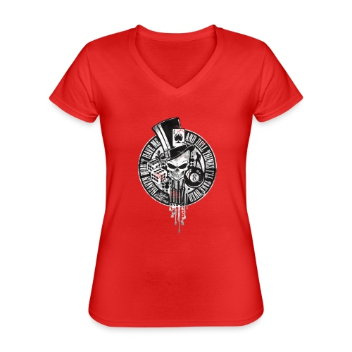 Kabes Heaven & Hell T-Shirt - Classic Women's V-Neck T-Shirt