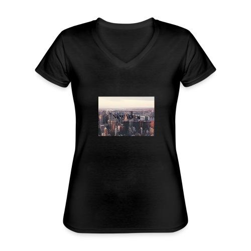 spreadshirt - T-shirt classique col V Femme
