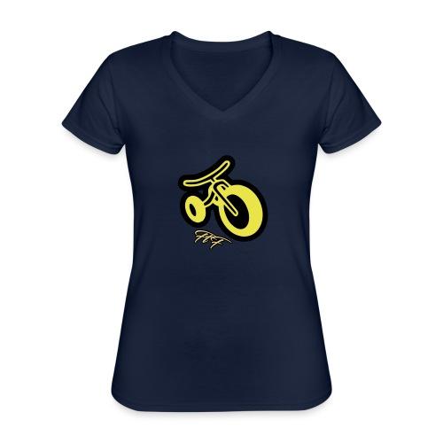 3CYCLE yellow - Maglietta da donna classica con scollo a V