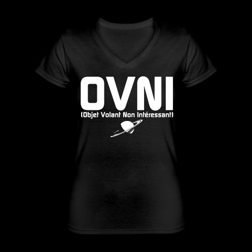 Objet Volant Non Intéressant - T-shirt classique col V Femme