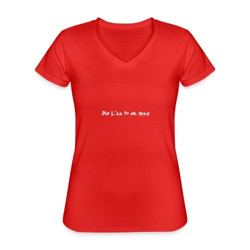 Die Lzz - Klassisk dame T-shirt med V-udskæring
