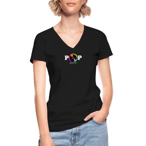 Collection POP - T-shirt classique col V Femme