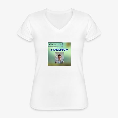 Leman974 logo - T-shirt classique col V Femme