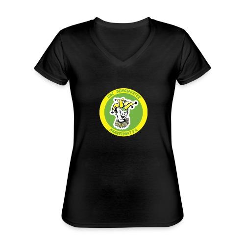 DNZ - Klassisches Frauen-T-Shirt mit V-Ausschnitt