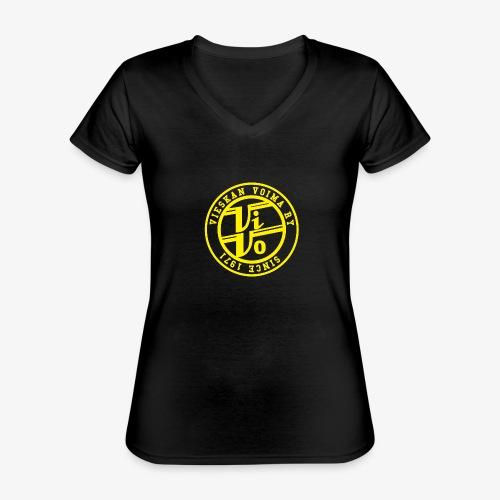 ViVoPAITA transparent - Klassinen naisten t-paita v-pääntiellä