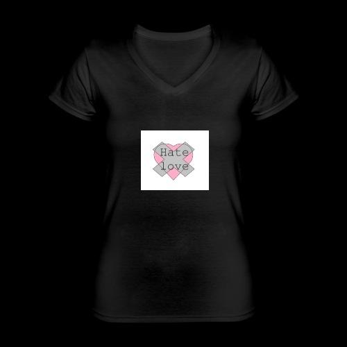 Hate love - Camiseta clásica con cuello de pico para mujer