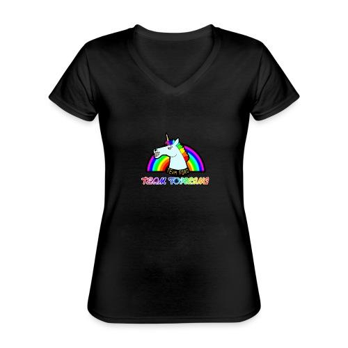 Logo officiel de la team forcing - T-shirt classique col V Femme