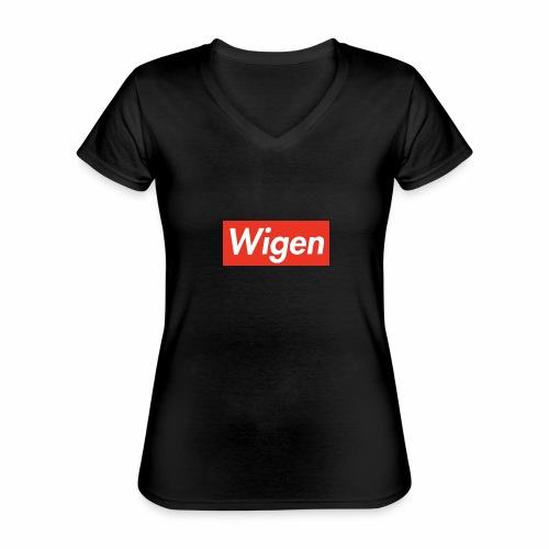 FD9D7801 A8D2 4323 B521 78925ACE75B1 - Klassisk T-shirt med V-ringning dam