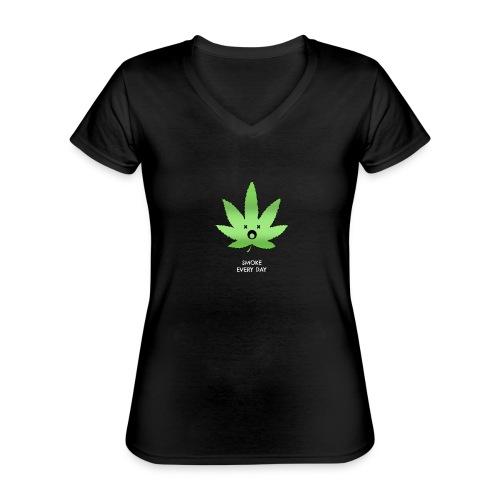 Smoke Every Day - Klassisches Frauen-T-Shirt mit V-Ausschnitt