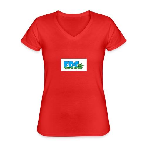 Logo_Fabini_camisetas-jpg - Camiseta clásica con cuello de pico para mujer
