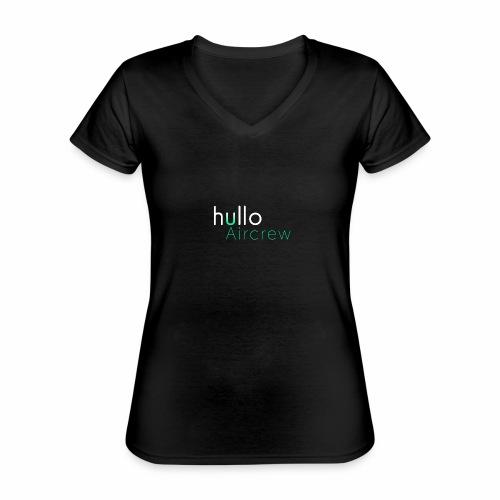 hullo Aircrew Dark - Classic Women's V-Neck T-Shirt
