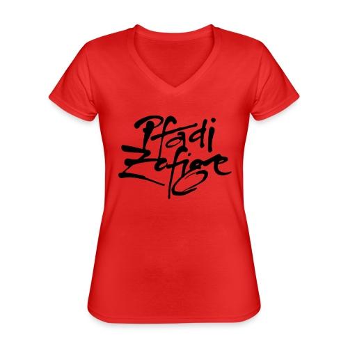 pfadi zofige - Klassisches Frauen-T-Shirt mit V-Ausschnitt