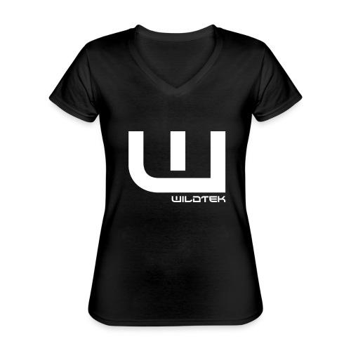 Wildtek Logo White - Classic Women's V-Neck T-Shirt