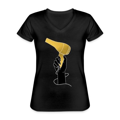 Kappers - We mogen weer! #shoplokaal - Klassiek vrouwen T-shirt met V-hals