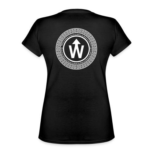 wit logo transparante achtergrond - Klassiek vrouwen T-shirt met V-hals