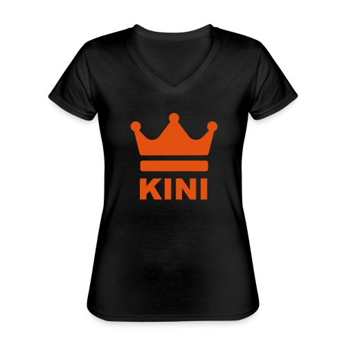 KINI ist König - Klassisches Frauen-T-Shirt mit V-Ausschnitt