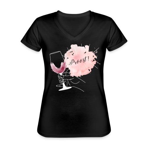 Proost! - We mogen weer #shoplokaal - Klassiek vrouwen T-shirt met V-hals