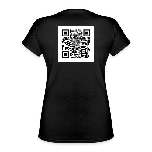 QR Code Zijt gij niet - Klassiek vrouwen T-shirt met V-hals