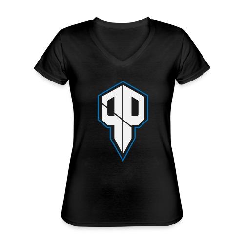 Pureness.one ESPORT LOGO - Klassisches Frauen-T-Shirt mit V-Ausschnitt