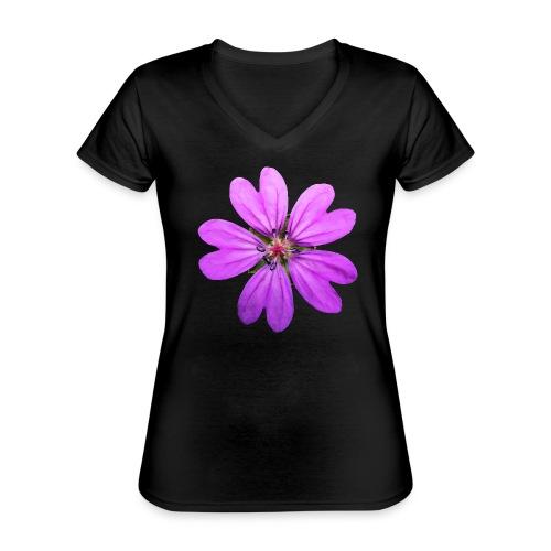 TIAN GREEN Garten - Storchschnabel 2020 01 - Klassisches Frauen-T-Shirt mit V-Ausschnitt