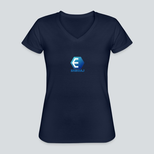 ennoaj - Klassiek vrouwen T-shirt met V-hals