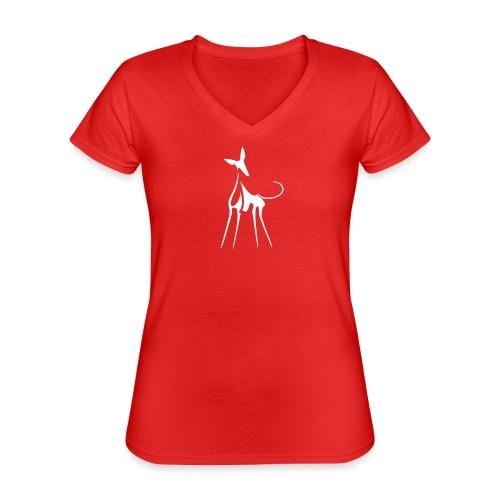 Podenco - Klassisches Frauen-T-Shirt mit V-Ausschnitt