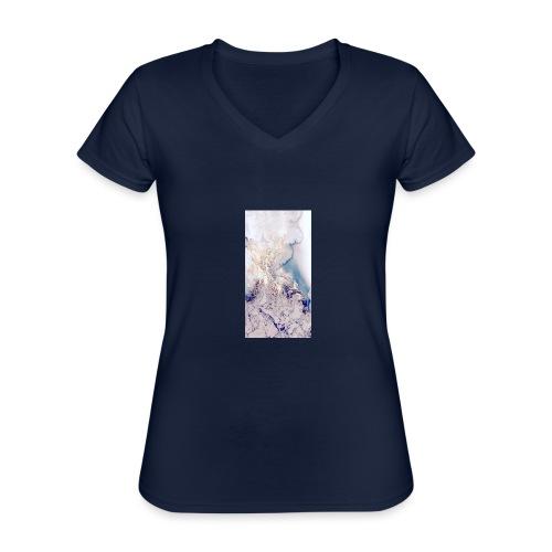 cbbe77bace48f38f4b76a3517b0a33aa - Maglietta da donna classica con scollo a V